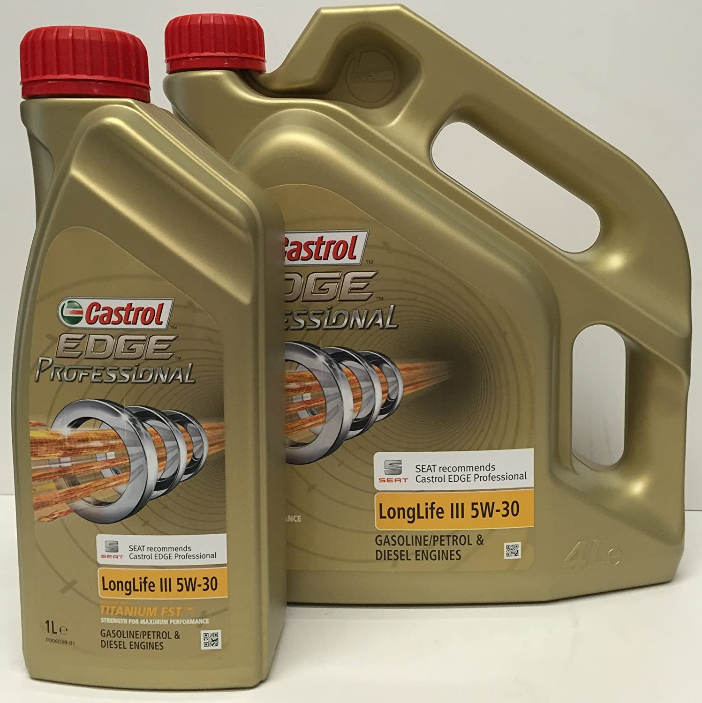 Castrol Edge 5W-30 FST Aceite de motor5W-30 1L (Sello alemán): Amazon.es: Coche y moto