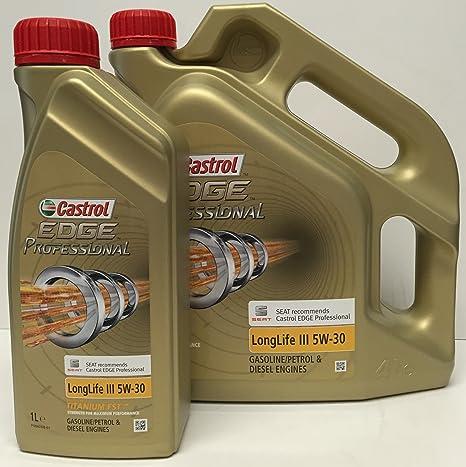 Aceite de motor Castrol EDGE PROFESSIONAL III 5W30 5 lts (1x4 lt + 1x1 lt