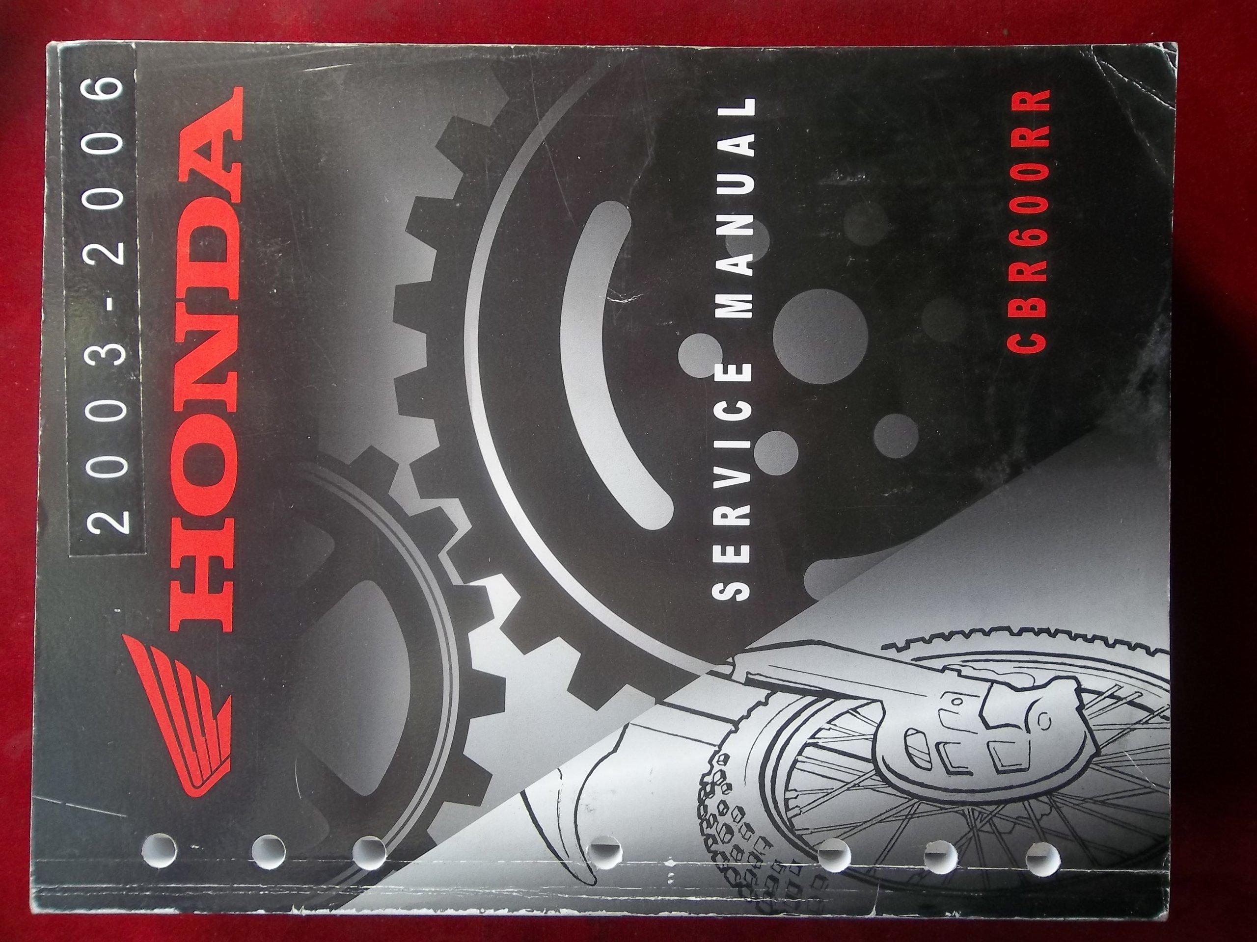 2003 2004 2005 2006 Cbr600rr Cbr 600 Rr Honda Service Shop Repair