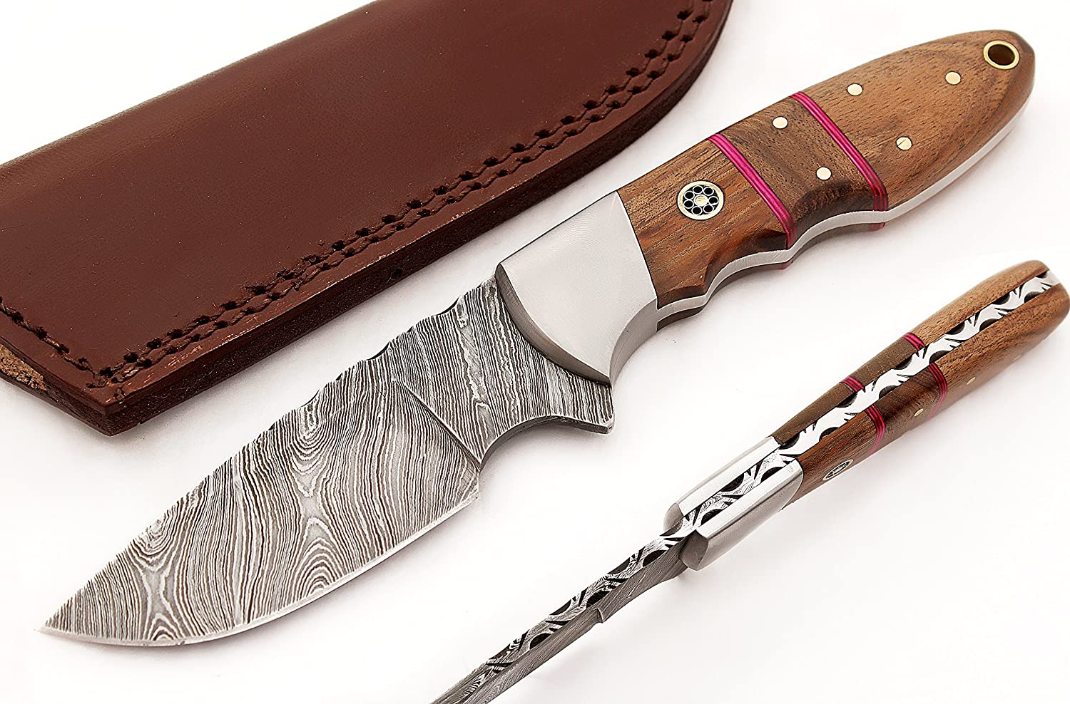 Condor Tool and Knife Nessmuk Knife, Wood Handle, Leather Sheath