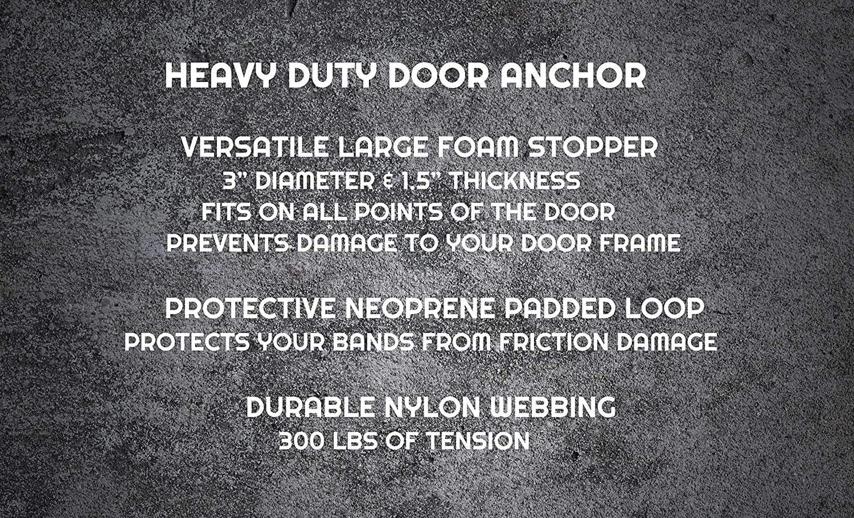 VOK 2 Pack Door Anchor Door Anchor with Dense Foam for Exercise Bands Wont Damage Door Door Anchors for Resistance Bands Heavy Duty Door Anchor Attachment with Solid Nylon Core