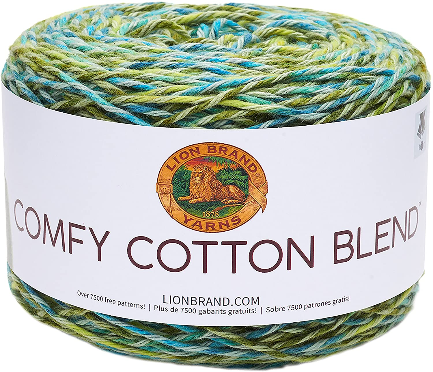 Lion Brand Yarn 756-704 Comfy Cotton Blend Yarn Stained Glass