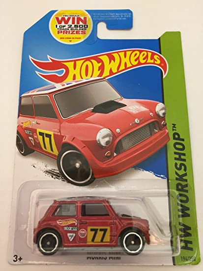 Amazoncom Hot Wheels Morris Mini Mini Cooper With British Flag