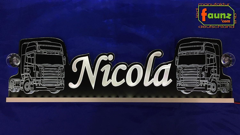 Nicola Blanco Cálido LED Camiones Truck Cartel grande o su ...
