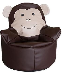 Lounge Pug®, Puff Sillón para niños, Pompón - Carbón Gris ...