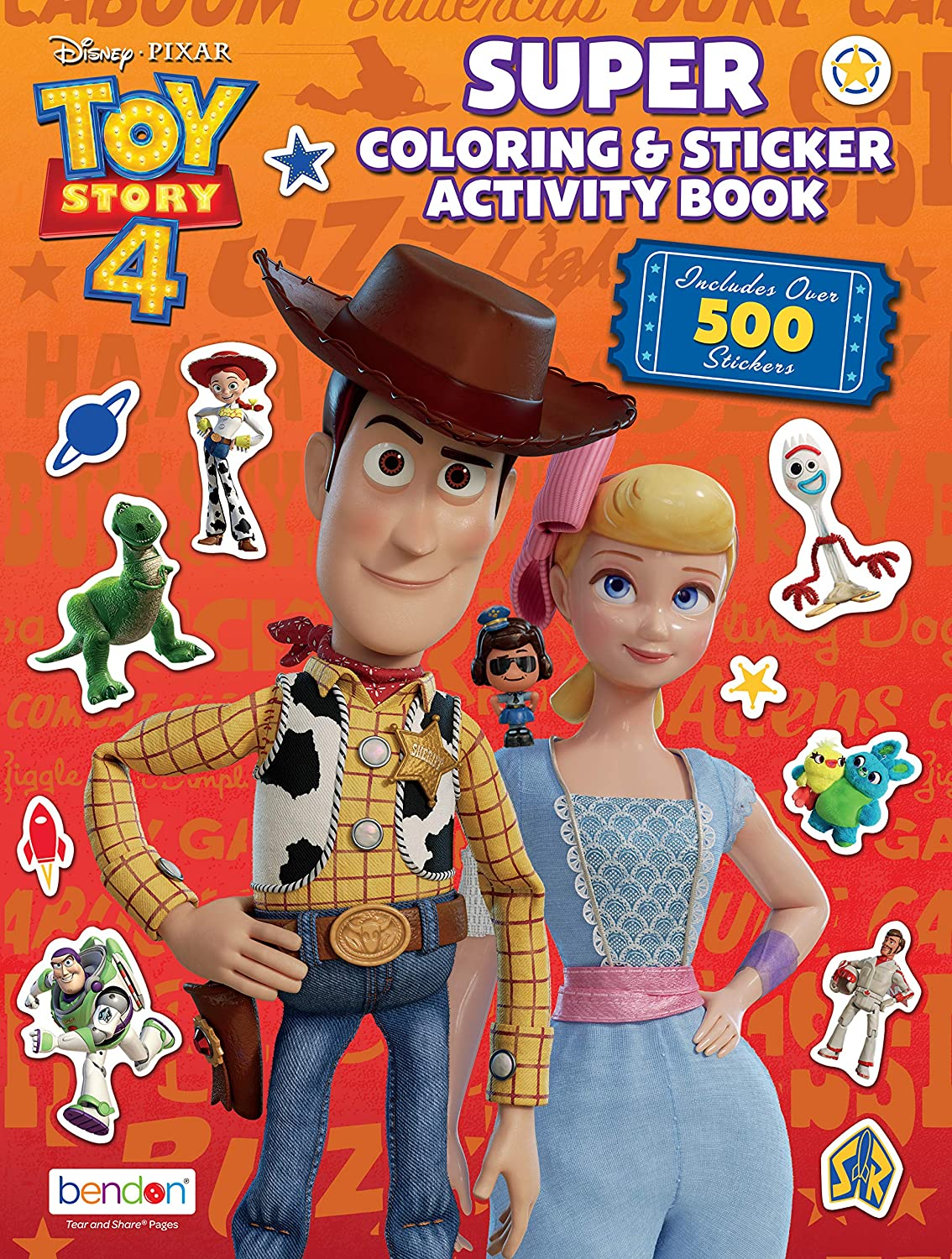 Amazon Com Disney Toy Story 4 Official Giant Sticker Activity Book
