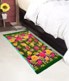 "Warmland Floral Polycotton Bed Side Runner - 30""x60"", Multicolour"