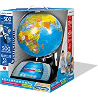 Clementoni Explora El Mundo-Globo Interactivo Premium, Multicolor (55247) (Versión en castellano)