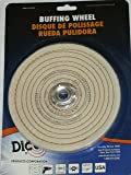 Dico 527-40-6 1/4-Inch Spiral Sewn 6-Inch Diameter 1/2-Inch Thick Buffing Wheel