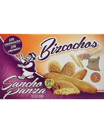 Sancho Panza - Bizcochos - Sin conservantes ni colorantes - 5 paquetes - [Pack de