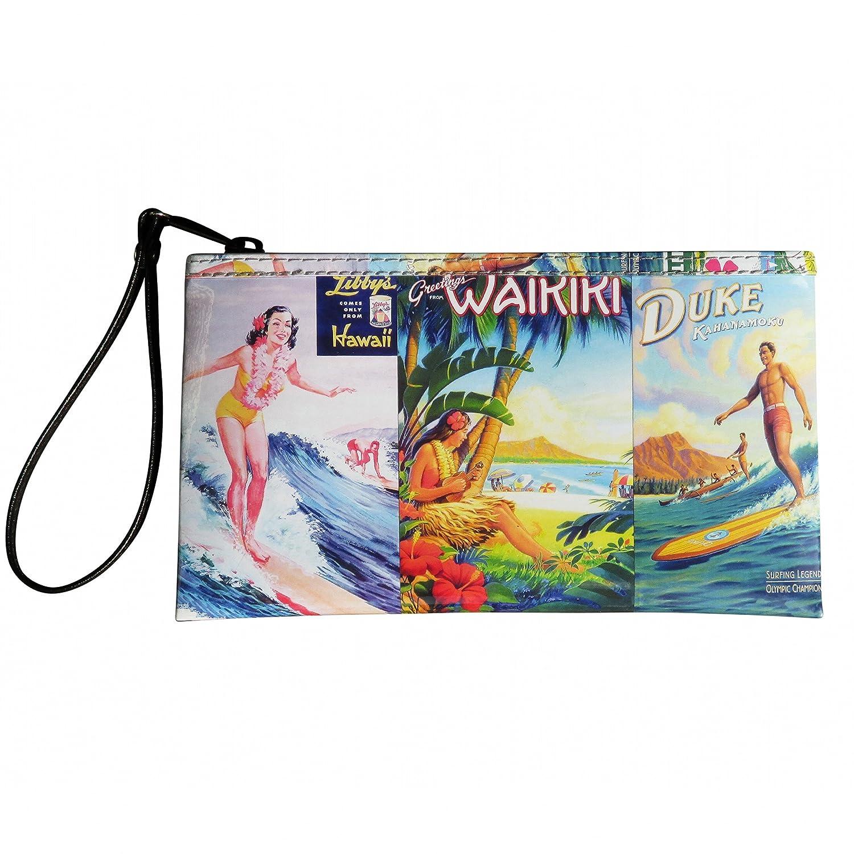 608a5bfacd Large Wristlet with Hawaiian vintage lifestyle prints FREE SHIPPING Hawaiian  gift for Luau wallet dance dancing print prints art poster memories of  Hawaii ...