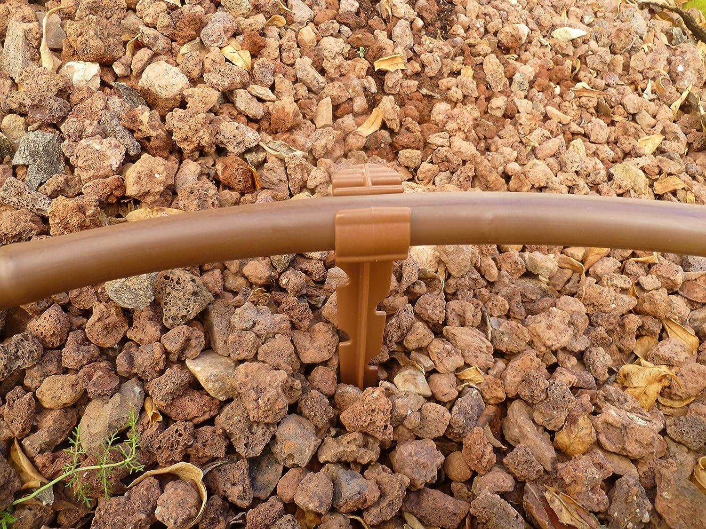 S/&M 544941 Manguera de riego Flexible con goteros Integrados 16 mm 0,50 m x 25 m Color marr/ón 40.0x40.0x10.0 cm