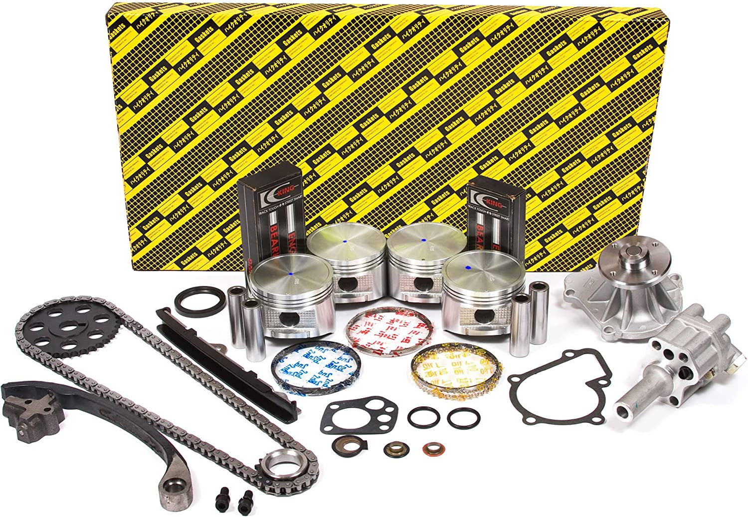 DNJ EK610 Engine Rebuild Kit for 1990-1995 Pickup Nissan KA24E 2389cc 2.4L 12V SOHC L4 D21
