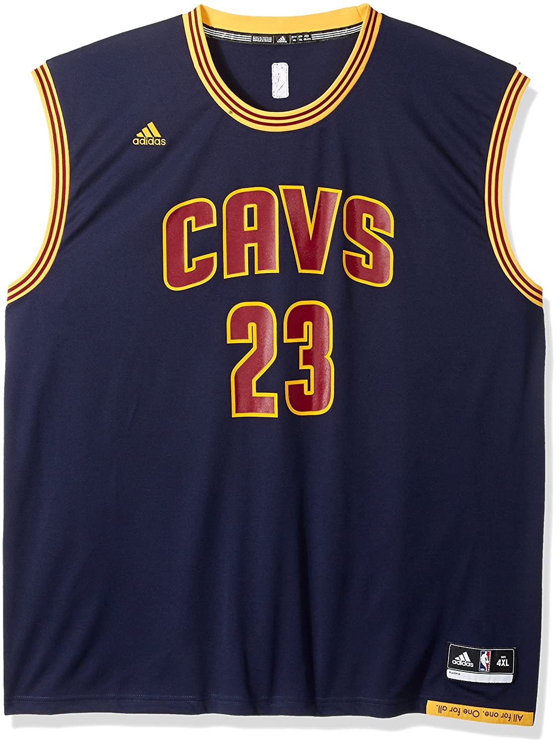 outlet store 0e0ac ebca1 adidas NBA Cleveland Cavaliers LeBron James #23 Men's ...