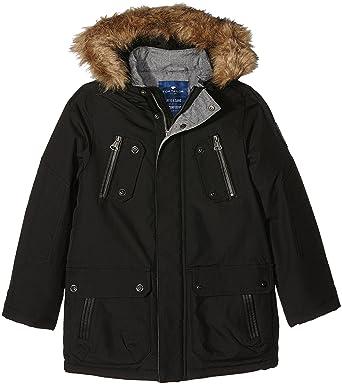 d0d119500ad7 TOM TAILOR Kids Jungen Jacke Fabric Mix Parkajacket, Schwarz (Black 2999),  140