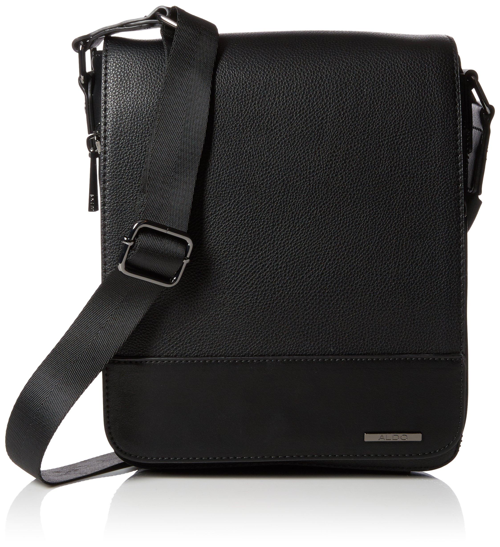 574519f2db4 Aldo Mens Sevirenia Messenger Bag Black (Black Leather)