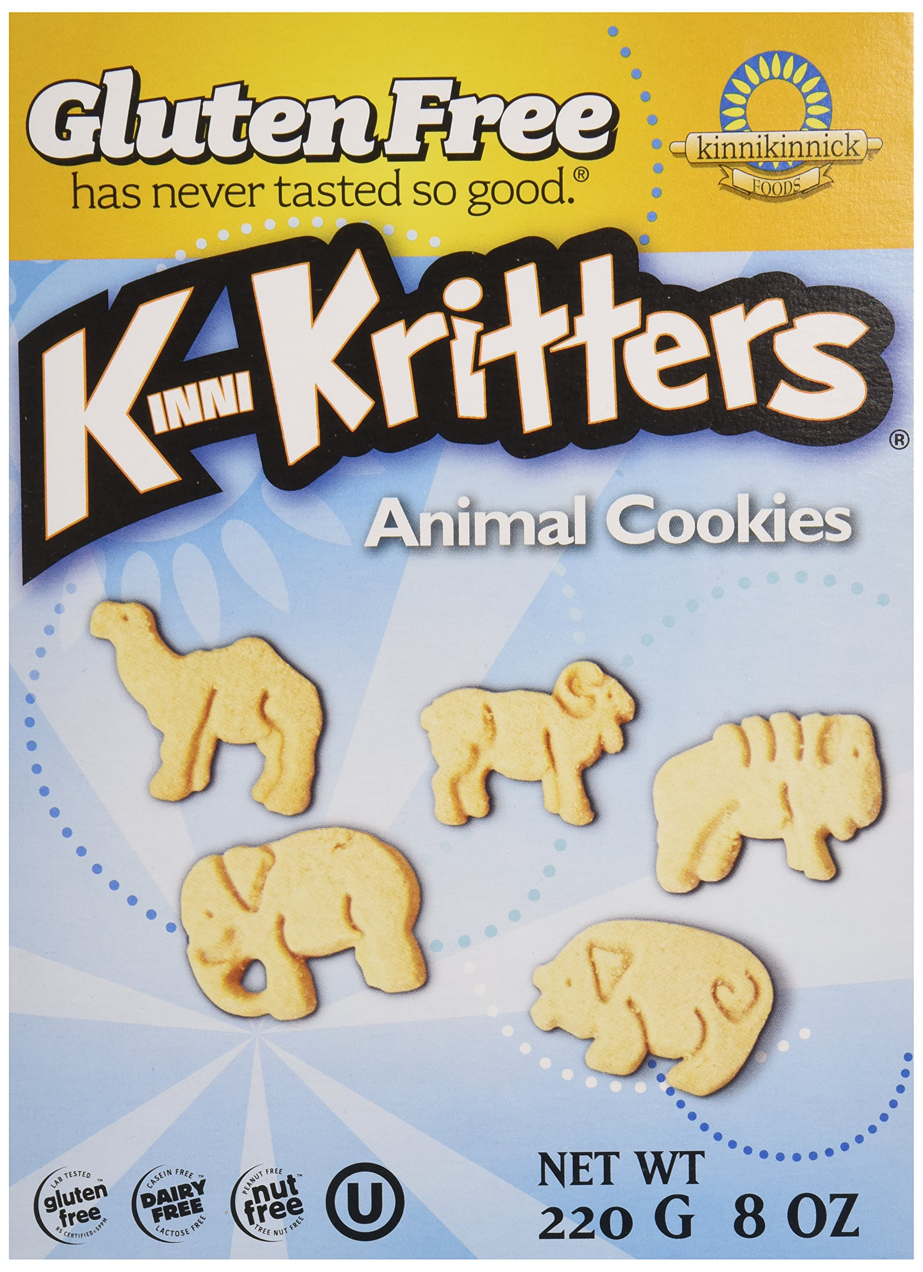 Kinnikinnick, Animal Cookies, Gluten Free, Wheat Free, Dairy Free, 8 oz