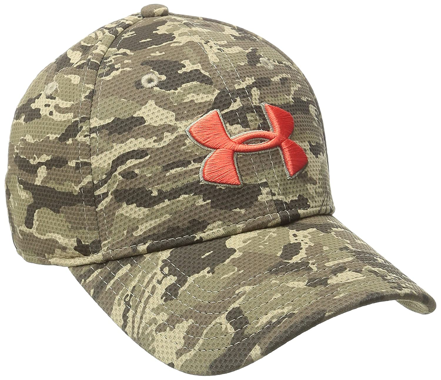 aa468a68b32 Under Armour Men s Printed Blitzing Stretch Fit Cap