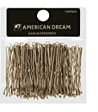 AMERICAN DREAM Pack of 100 x Haarnadeln - blond - gewellt - 2 inch / 5 cm Länge, 1er Pack (1 x 68 g)