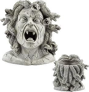 Darware Resin Medusa Head Planter, Garden Decor Statue Flower Pot