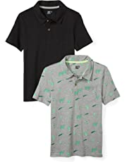 0ff7c98f5e60 Amazon Brand - Spotted Zebra Boys  2-Pack Slub Jersey Short-Sleeve Polo