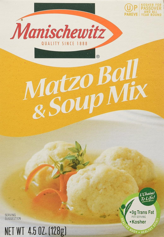 MANISCHEWITZ Matzo Ball & Soup Mix, 4.5-Ounce Boxes (Pack of 8) 00026943_ob