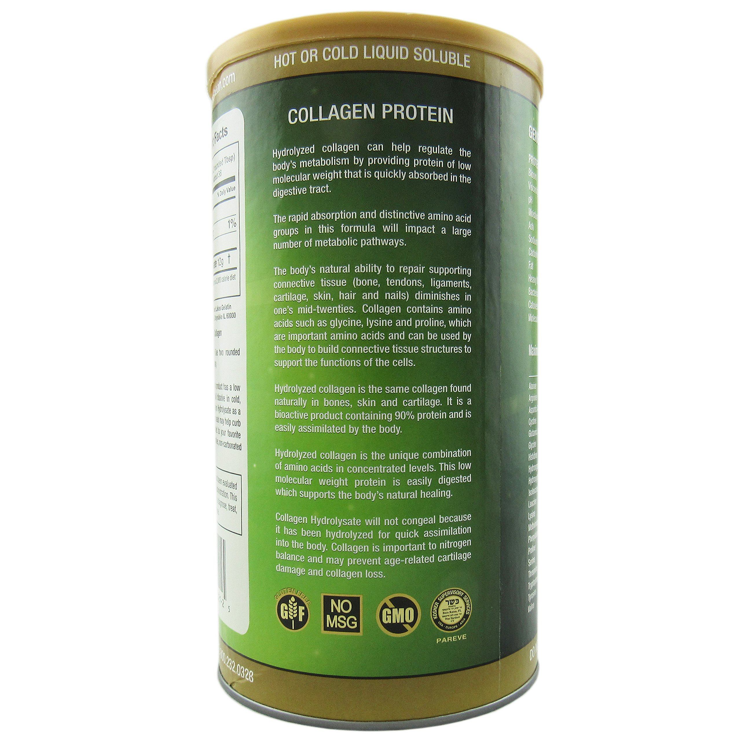 Great Lakes Gelatin Co., Collagen Hydrolysate, Bovine, 16 oz (454 g) - 2pcs by Great Lakes (Image #3)