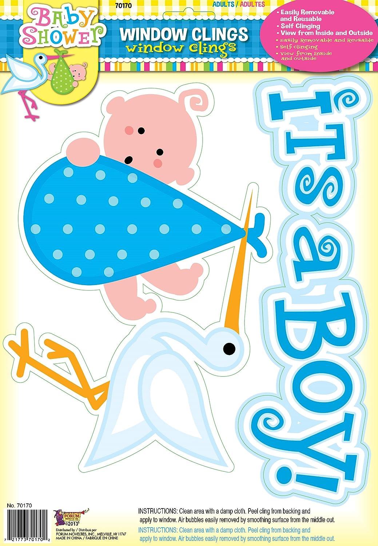 Amazon.com: forum novelties it s a Boy bebé azul ventana ...