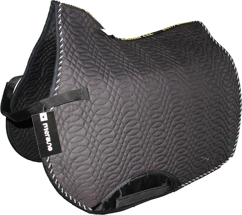 Merauno - Alforja Acolchada para Silla de Montar (algodón), diseño de Numnah Dressage