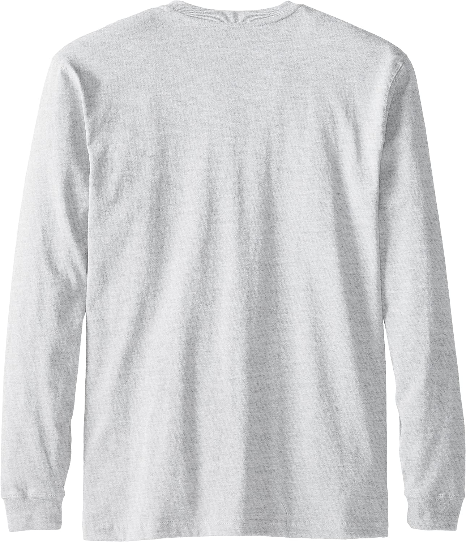 Carhartt Men's Workwear Pocket Long-Sleeve Henley Shirt Heather Gray
