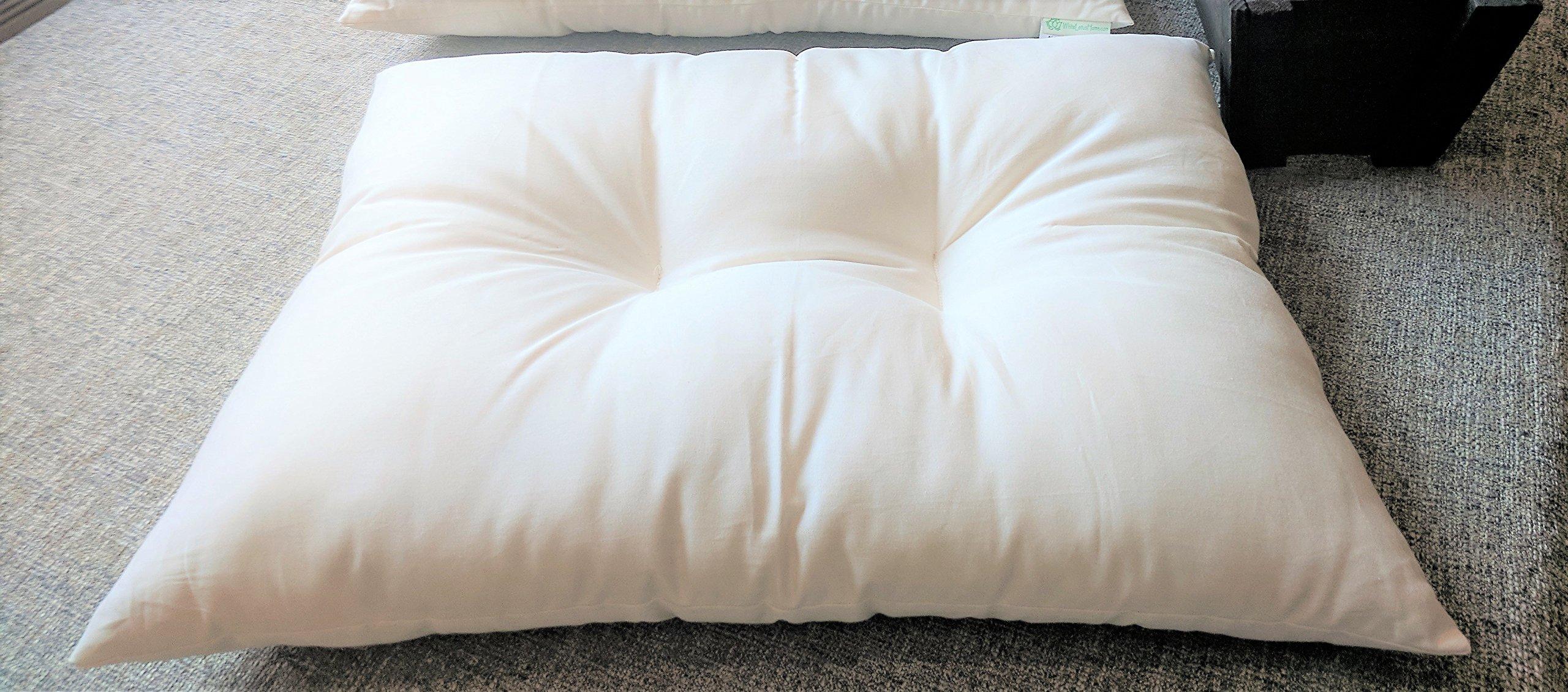White Lotus Home KaPillow-Kapok Contour Sleeping Pillow, Standard/Soft