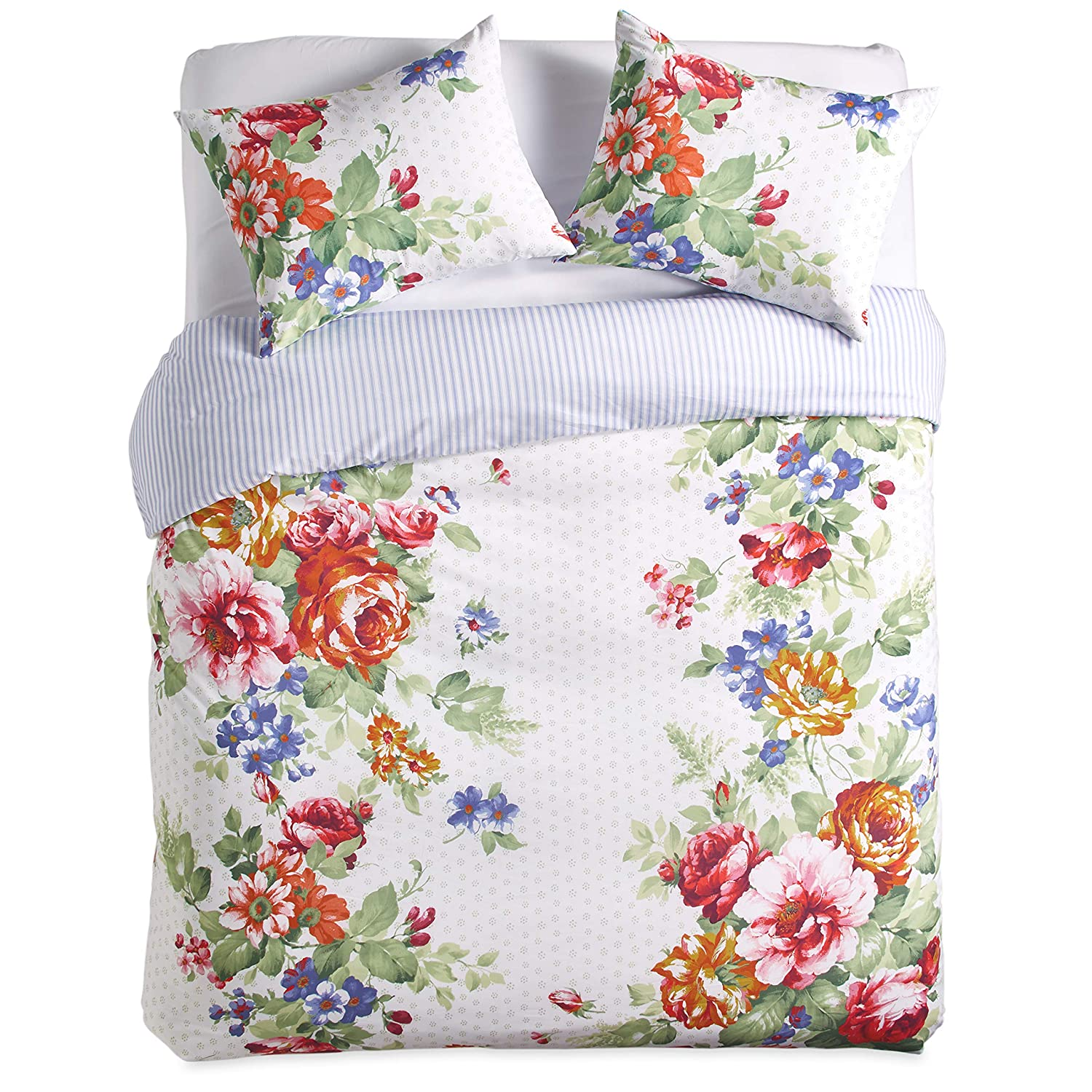 The Pioneer Woman Beautiful Bouquet Duvet Cover, White (king)
