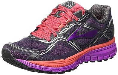 Brooks Womens Ghost 8 AnthracitePurple Cactus FlowerDubarry Athletic Shoe