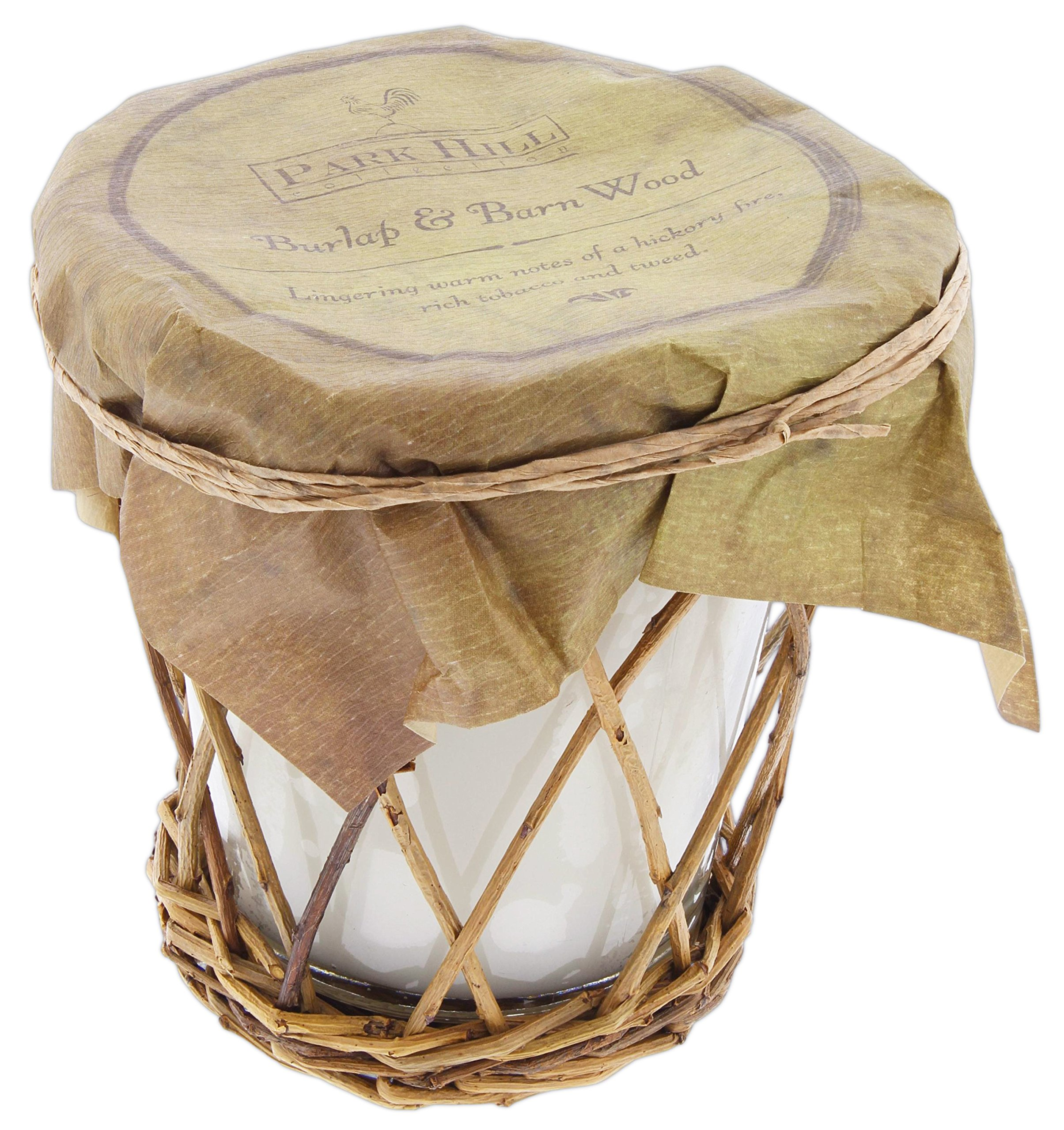 Park Hill Scented Candle ('Burlap & Barn Wood' Warm Notes of Hickory, Tobacco & Tweed)