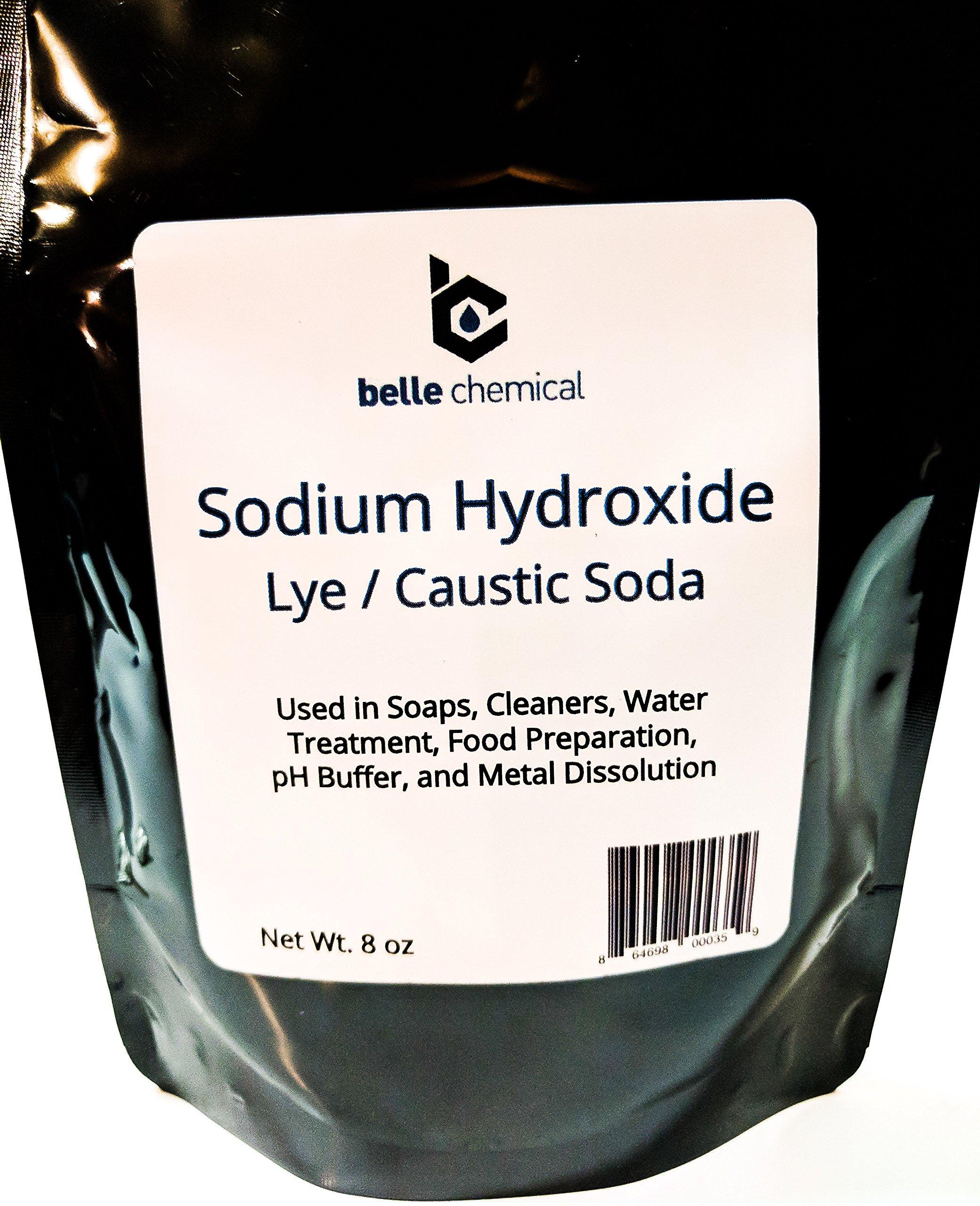 Sodium Hydroxide - Pure - Food Grade (Caustic Soda, Lye) (8 Ounce)