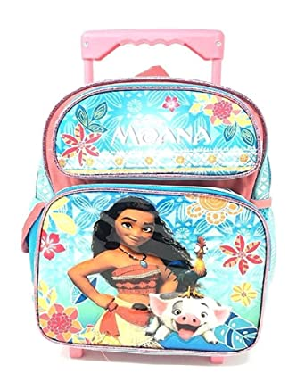 ee7f9abb224e Disney Moana 12' inches Small Rolling/Roller Girls backpack