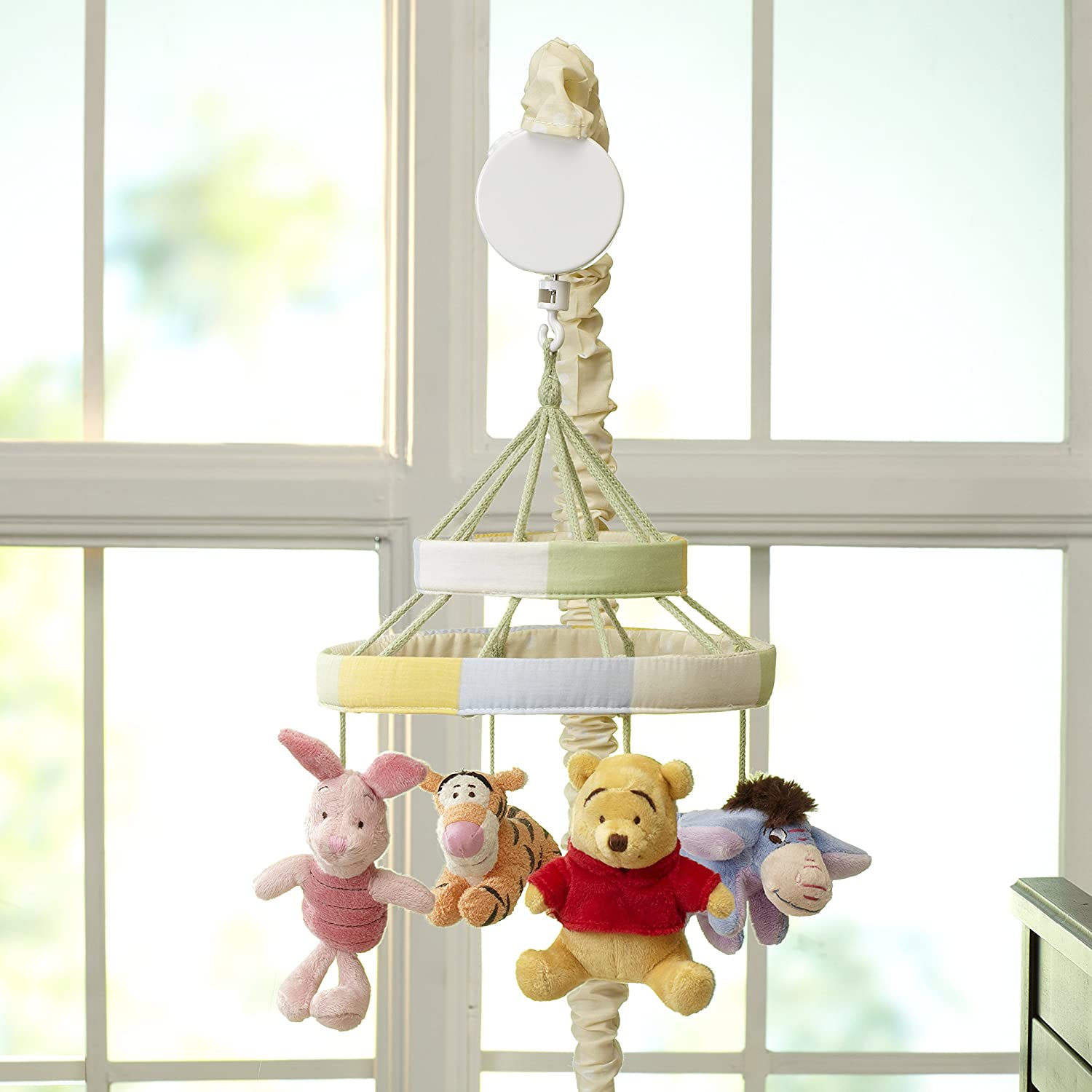 Ivory Butter Musical Mobile with Hunny Pot and Bees Sage Brown Disney Winnie The Pooh Classic Pooh Ivory Sage Butter