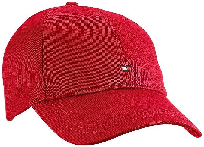 Tommy Hilfiger Classic BB Cap, Gorra de béisbol para Hombre, Rot (Barbados Cherry