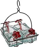 Basketweave 4 Hummingbird Feeder Clear