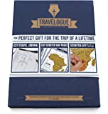 Luckies LUKTRAVB Travelogue Diario di Viaggio Interattivo con Pagine da Grattare, Carta, Blu, 2 x 17 x 22.5 cm