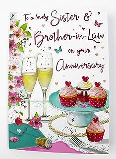 Jonny Javelin Sister Brother In Law Wedding Anniversary Card 9 X