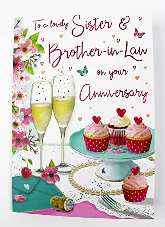 Sister and brother in law wedding anniversary greeting card quality sister and brother in law wedding anniversary greeting card quality verse couple m4hsunfo