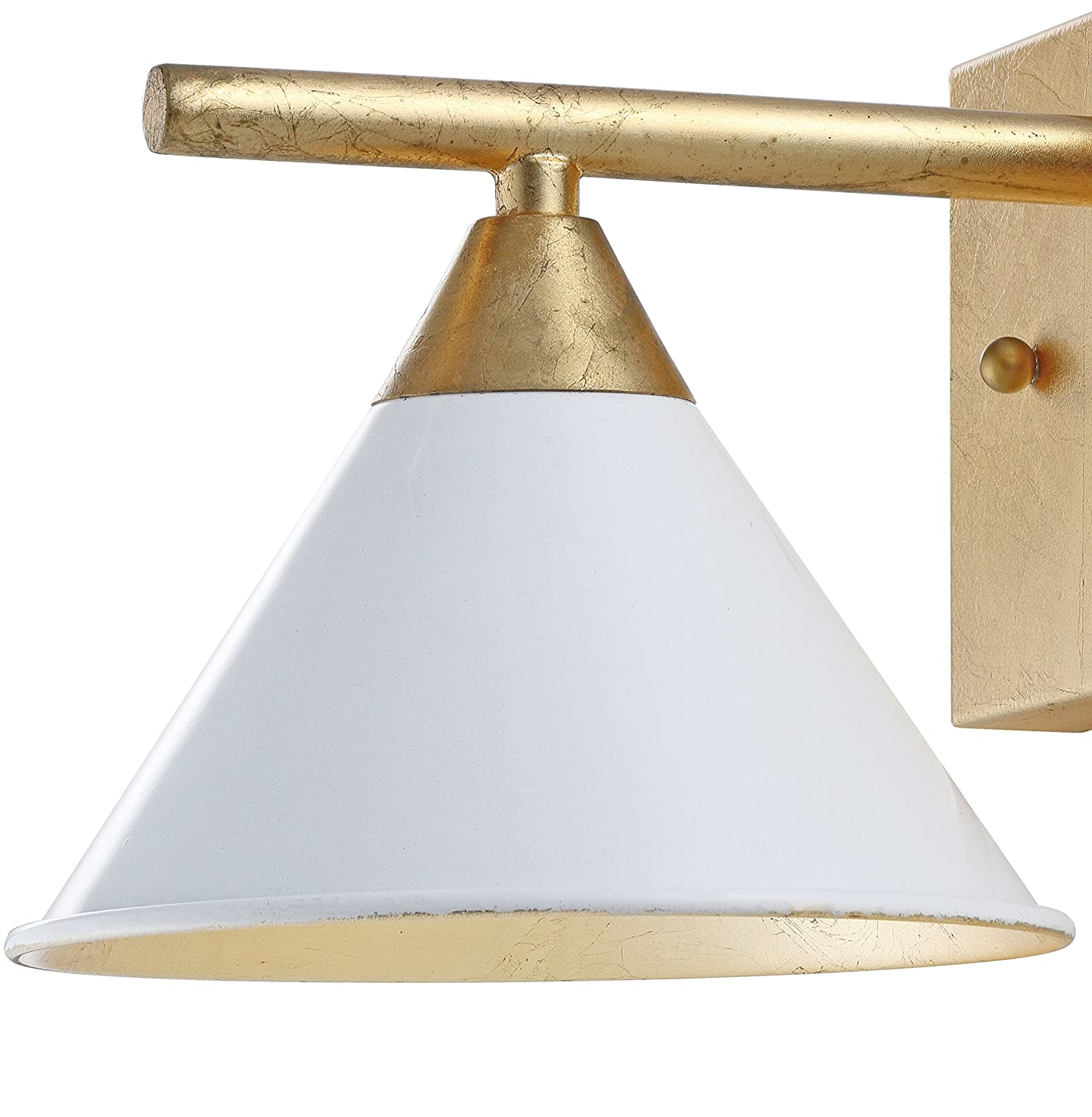Yvette 9 1-Light Metal Wall Sconce White//Gold by JONATHAN Y