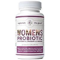 Womens Probiotic 60ct, 6 Billion CFU with Cranberry, D-Mannose, Vitamin D3. Best...