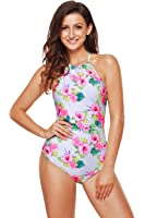 Angerella Vintage 50s Pin Up Halter One Piece Swimsuit