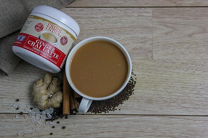 Pride Of India café con leche en polvo de jengibre chai premezcla té instantáneo, 8,82 oz (250 gramos) jarra (hace 20 tazas): Amazon.es: Alimentación y ...