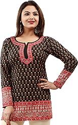 Unifiedclothes Women Fashion Casual Short Indian Kurti Tunic Kurta Top Shirt Dress 56D