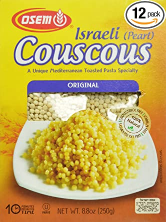 Amazon Com Osem Israeli Pearl Couscous Original 8 8 Ounce Pack Of 12 Dried Couscous Grocery Gourmet Food