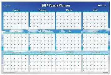 2017 horizontal calendar