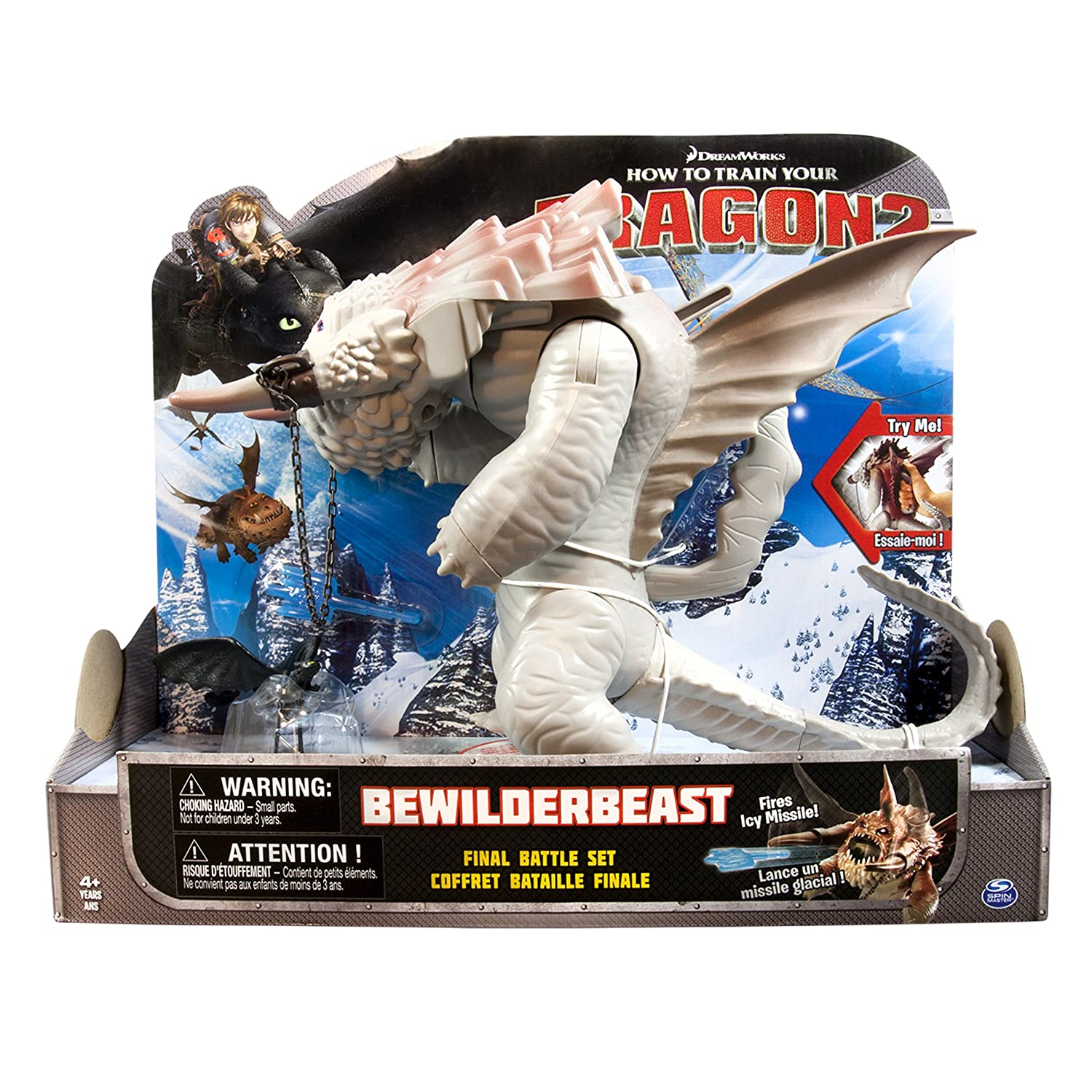 Amazon: Dreamworks Dragons: How To Train Your Dragon 2  Bewilderbeast  Final Battle Set: Toys & Games